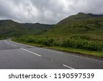 a beautiful hill and cloudy sky | Shutterstock . vector #1190597539