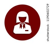 croupier icon in badge style.... | Shutterstock . vector #1190602729