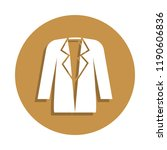 women's jacket icon in badge...