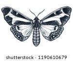 beautiful butterfly tattoo.... | Shutterstock . vector #1190610679
