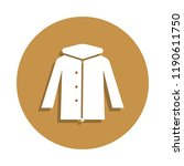 winter parka jacket icon in...