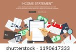 invoice. financial calculations.... | Shutterstock .eps vector #1190617333