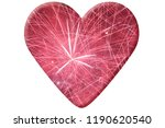 red heart with fireworks... | Shutterstock . vector #1190620540