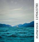 sailboat on lake garda italy...   Shutterstock . vector #1190623780