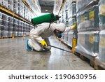pest control worker hand... | Shutterstock . vector #1190630956