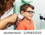 young boy at medical... | Shutterstock . vector #1190631010
