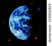 earth pixel art. pixelated... | Shutterstock .eps vector #1190632819
