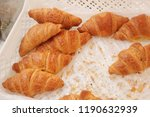 french croissants in the market | Shutterstock . vector #1190632939