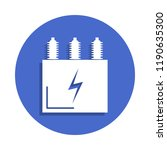 electric transformer icon in...