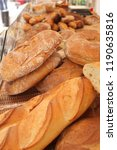 different types of bread in the ... | Shutterstock . vector #1190635816