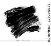 vector hand drawn ink brush... | Shutterstock .eps vector #1190640196