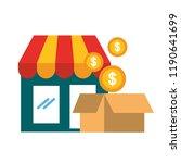 online shopping market...   Shutterstock .eps vector #1190641699