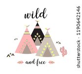 wild and free scandinavian... | Shutterstock .eps vector #1190642146