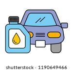 car vehicle gallon oil... | Shutterstock .eps vector #1190649466