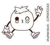 tomato kawaii cartoon   Shutterstock .eps vector #1190652163