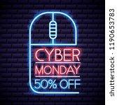 cyber monday shop | Shutterstock .eps vector #1190653783