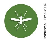 mosquito icon in badge style....
