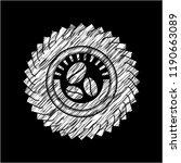 coffee bean icon on chalkboard | Shutterstock .eps vector #1190663089