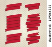 illustration of vintage ribbons ... | Shutterstock .eps vector #119066836