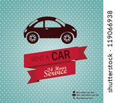 Illustration of rent a car, Vintage label illustration, vector illustration