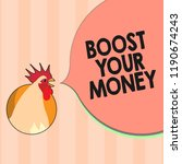 text sign showing boost your... | Shutterstock . vector #1190674243