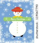 snow girl  greeting card | Shutterstock . vector #119067790