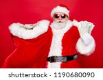 portrait of santa in eyeglasses ... | Shutterstock . vector #1190680090