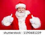 stylish aged santa with beard... | Shutterstock . vector #1190681239
