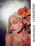 young beautiful girl elf.... | Shutterstock . vector #1190685583