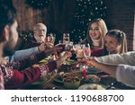noel evening family gathering ... | Shutterstock . vector #1190688700