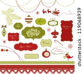 a set of christmas scrapbook... | Shutterstock .eps vector #119068939