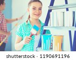 portrait happy smiling young... | Shutterstock . vector #1190691196