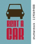 illustration of rent a car  car ... | Shutterstock .eps vector #119069488