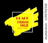 black friday sale poster with... | Shutterstock .eps vector #1190702530