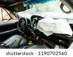 car interior damaged by traffic ... | Shutterstock . vector #1190702560