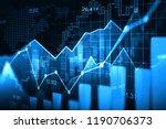 stock market or forex trading... | Shutterstock . vector #1190706373