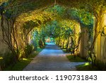 garden path in resort with warm ... | Shutterstock . vector #1190731843