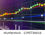 stock market graph on led... | Shutterstock . vector #1190736616