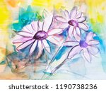 abstract chamomile flower... | Shutterstock . vector #1190738236