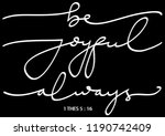 hand lettered be joyful always. ... | Shutterstock .eps vector #1190742409