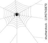spider silhouette vector.... | Shutterstock .eps vector #1190743870