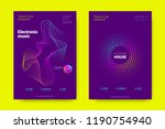 music wave poster. party flyer... | Shutterstock .eps vector #1190754940