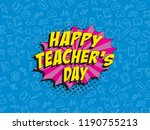 teachers day banner design... | Shutterstock .eps vector #1190755213