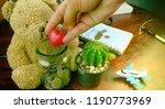 saving money for retirement... | Shutterstock . vector #1190773969