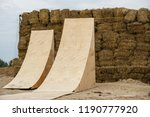 two big air wooden ramps for... | Shutterstock . vector #1190777920