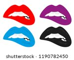 female lips. sexy lips. lips in ... | Shutterstock .eps vector #1190782450