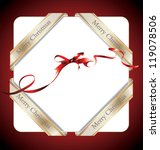 merry christmas ribbon or tag... | Shutterstock .eps vector #119078506