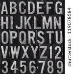 wet brushed aluminum type | Shutterstock . vector #119078584