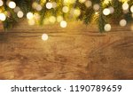 christmas and new year wooden... | Shutterstock . vector #1190789659
