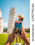leaning tower of pisa  italy... | Shutterstock . vector #1190796160